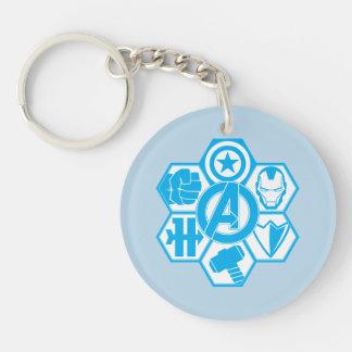 Avengers Assemble Icon Badge Keychain