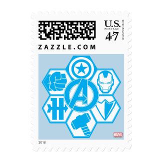Avengers Assemble Icon Badge Postage