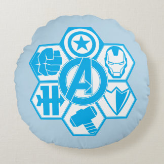 Avengers Assemble Icon Badge Round Pillow