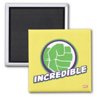 Avengers Assemble Incredible Hulk Logo 2 Inch Square Magnet