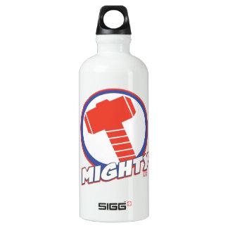 Avengers Assemble Mighty Thor Logo Aluminum Water Bottle