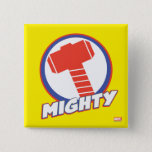 Avengers Assemble Mighty Thor Logo Button