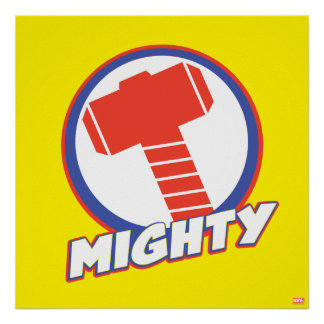 Avengers Assemble Mighty Thor Logo Poster