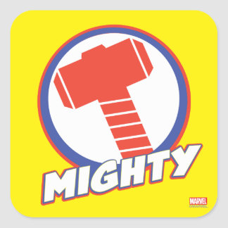 Avengers Assemble Mighty Thor Logo Square Sticker