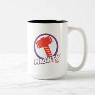 Avengers Assemble Mighty Thor Logo Two-Tone Coffee Mug