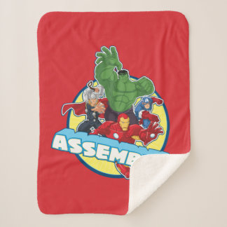 Avengers Assemble! Sherpa Blanket