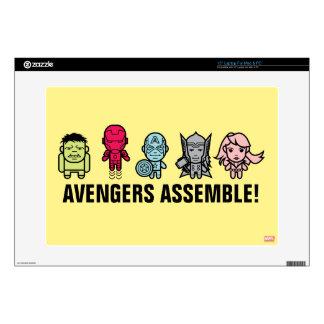 "Avengers Assemble - Stylized Line Art 15"" Laptop Skin"