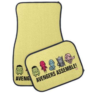 Avengers Assemble - Stylized Line Art Car Floor Mat