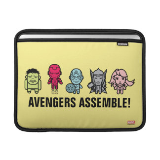 Avengers Assemble - Stylized Line Art MacBook Sleeve