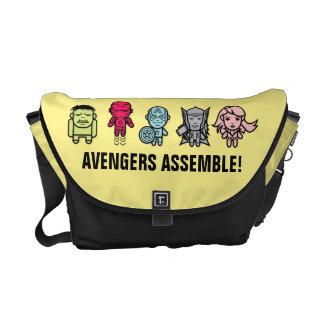 Avengers Assemble - Stylized Line Art Messenger Bag