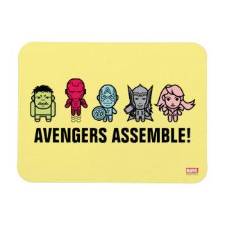 Avengers Assemble - Stylized Line Art Rectangular Photo Magnet