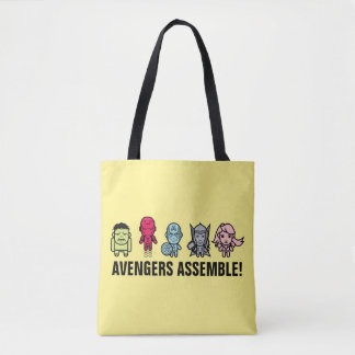 Avengers Assemble - Stylized Line Art Tote Bag