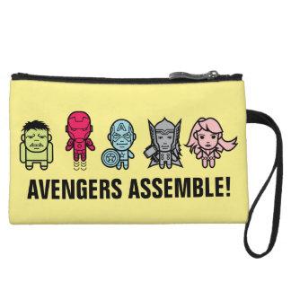 Avengers Assemble - Stylized Line Art Wristlet Wallet