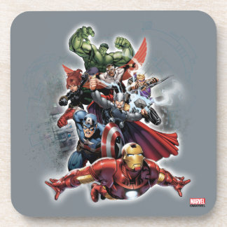 Avengers Attack Graphic Beverage Coaster