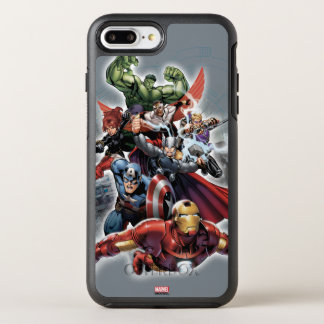 Avengers Attack Graphic OtterBox Symmetry iPhone 8 Plus/7 Plus Case