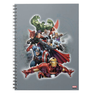 Avengers Attack Graphic Spiral Notebook