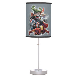Avengers Attack Graphic Table Lamp