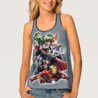 Avengers Attack Graphic Tank Top