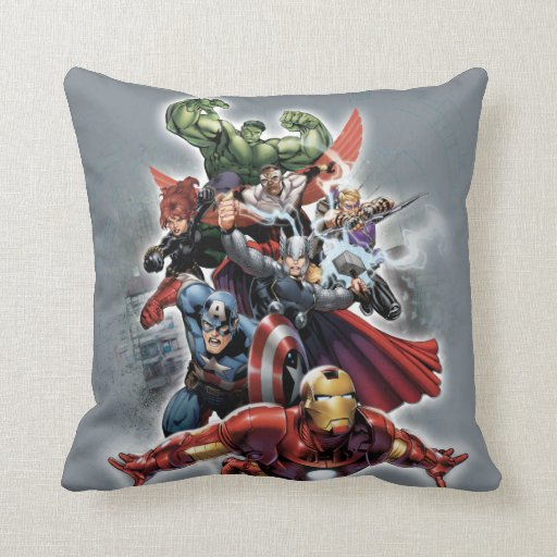 Avengers Attack Graphic Throw Pillow Zazzle