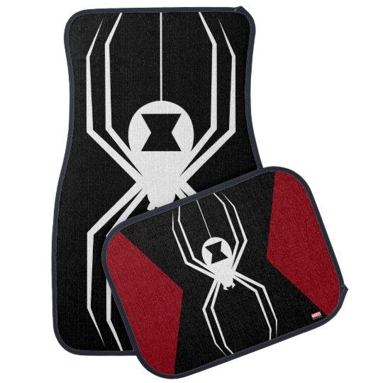 Avengers Black Widow Icon Car Floor Mat Zazzle