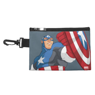 Avengers Cartoon Captain America Character Pose Accessories Bags