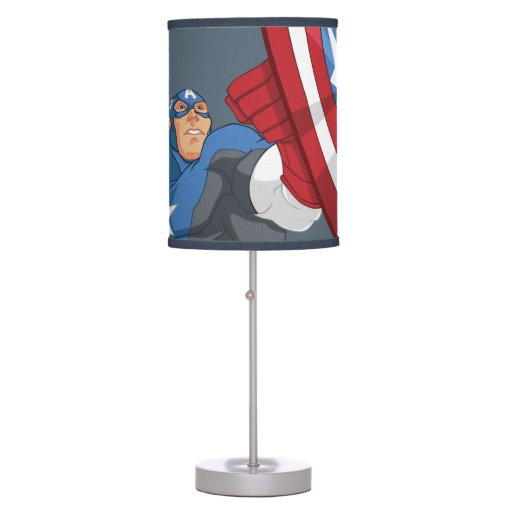 Avengers Cartoon Captain America Character Pose Table Lamp