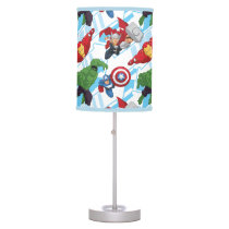 Avengers Character Action Kids Pattern Desk Lamp