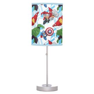 Avengers Character Action Kids Pattern Desk Lamp