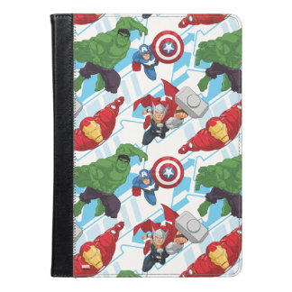 Avengers Character Action Kids Pattern iPad Air Case