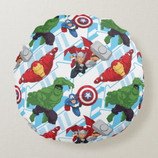 Avengers Character Action Kids Pattern Round Pillow