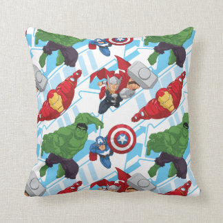 Avengers Character Action Kids Pattern Throw Pillow