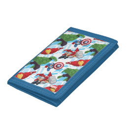 Avengers Character Action Kids Pattern Trifold Wallets