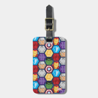 Avengers Character Faces & Logos Badge Bag Tag