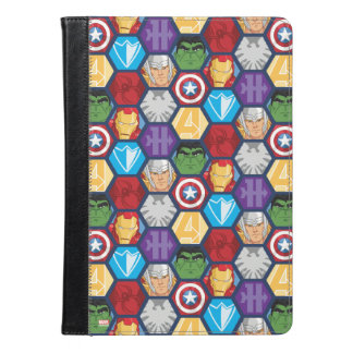 Avengers Character Faces & Logos Badge iPad Air Case