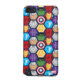 Avengers Character Faces & Logos Badge iPod Touch (5th Generation) Cover