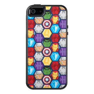 Avengers Character Faces & Logos Badge OtterBox iPhone 5/5s/SE Case
