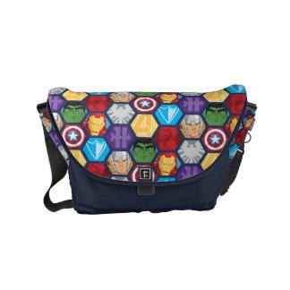 Avengers Character Faces & Logos Badge Small Messenger Bag