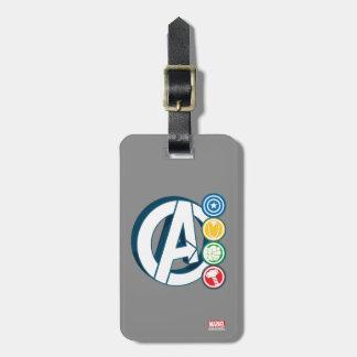 Avengers Character Logos Bag Tag