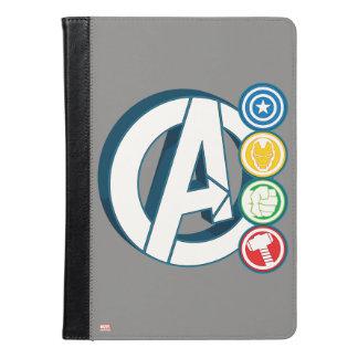 Avengers Character Logos iPad Air Case