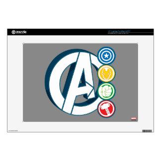 Avengers Character Logos Laptop Skins