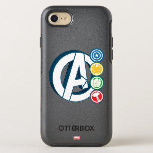 Avengers Character Logos OtterBox Symmetry iPhone 8/7 Case