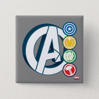 Avengers Character Logos Pinback Button