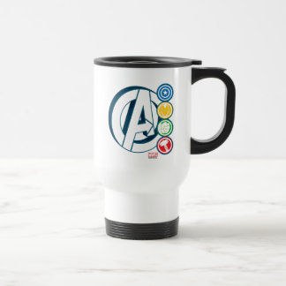 Avengers Character Logos Travel Mug