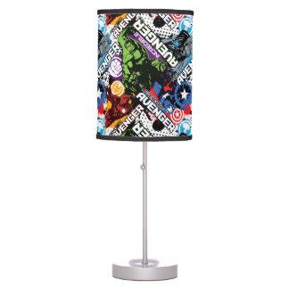 Avengers Character Pattern Desk Lamp