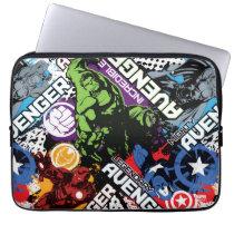 Avengers Character Pattern Laptop Sleeve