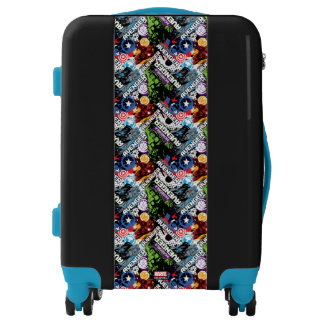 Avengers Character Pattern Luggage