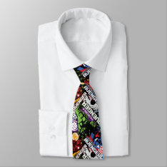 Avengers Character Pattern Neck Tie at Zazzle