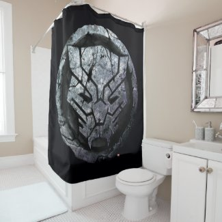 Avengers Classics | Black Panther Stone Emblem Shower Curtain
