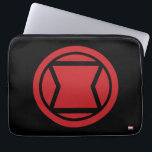 "Avengers Classics | Black Widow Icon Computer Sleeve<br><div class=""desc"">Check out this Black Widow Icon featuring the classic red black widow hourglass design.</div>"