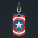 """Avengers Classics   Captain America Brushed Shield Bag Tag<br><div class=""""desc"""">Check out this brushed metal textured graphic of Captain America&#39;s shield.</div>"""
